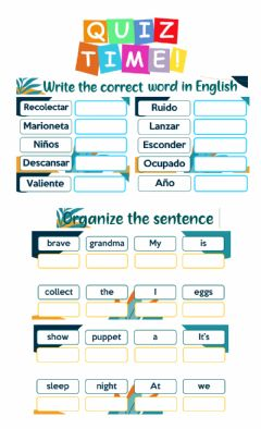 Interactive worksheet Vocabulary 3° - July 24th