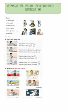 Interactive worksheet Family and friends 1 unit 4