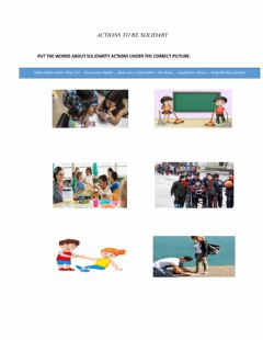 Interactive worksheet Actions to be solidary