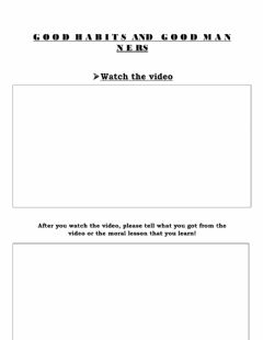 Interactive worksheet Good Habits and Manners