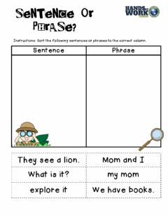 Interactive worksheet Sentence or phrase
