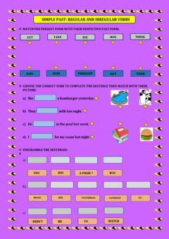 Ficha interactiva Simple past:regular and irregular verbs