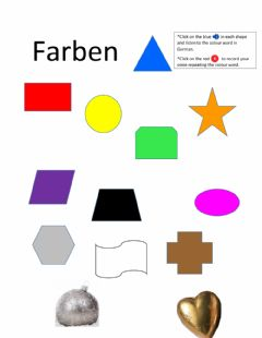 Interactive worksheet German 1 Colour Listen and Say
