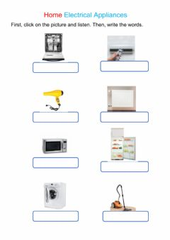 Interactive worksheet Home Electrical Appliances