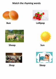 Interactive worksheet Rhyming words