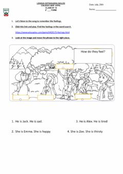 Interactive worksheet 2nd form- class 10. July, 29th