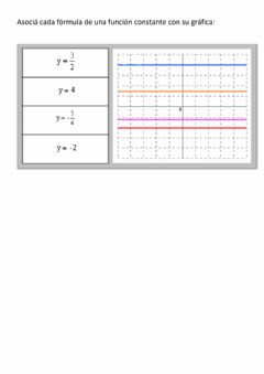 Interactive worksheet Función constante