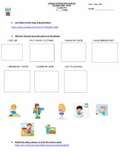 Interactive worksheet 3rd form. July, 29th
