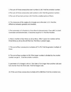 Interactive worksheet Linear equation