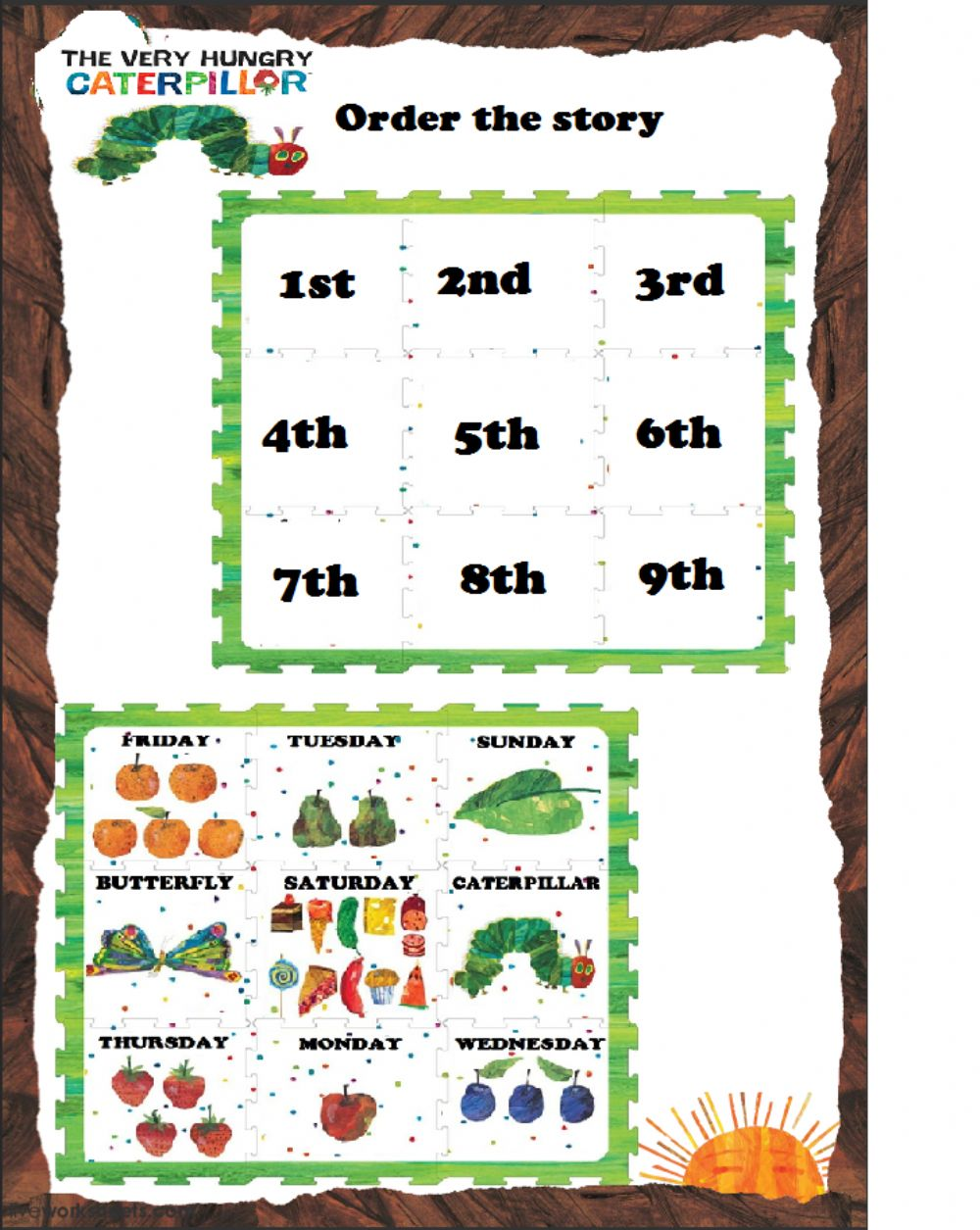 The Very Hungry Caterpillar online pdf exercise for grade 21