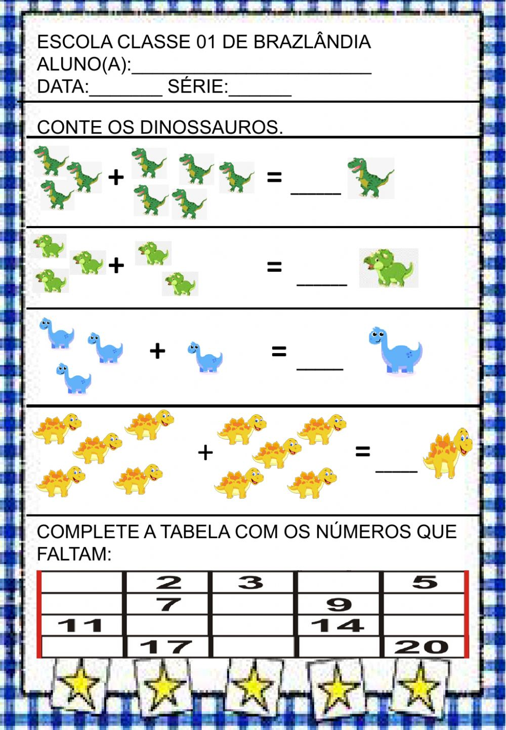 Matematica interactive worksheet for 1° ANO