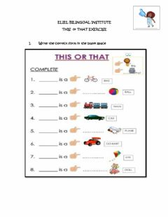 Interactive worksheet This or that