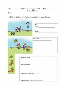 Interactive worksheet Fun and Games with Tara and Friends(Text book)