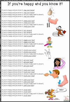 Interactive worksheet Happy Song