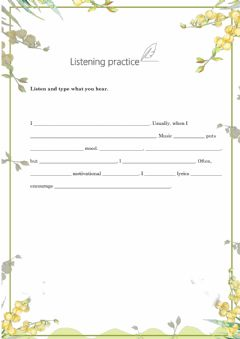 Interactive worksheet Dictation