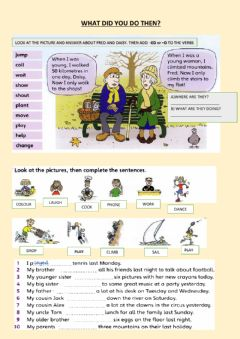 Interactive worksheet Revision past simple regular verbs