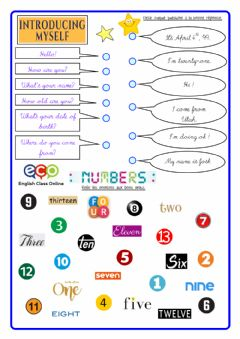 Interactive worksheet Pad22 IntrYrsf + Numbers Match