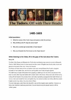 Interactive worksheet Tudor England