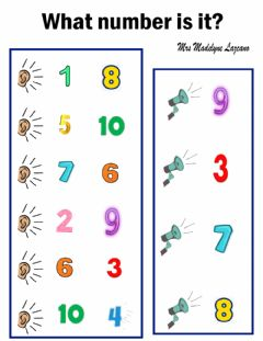 Interactive worksheet What number is it?