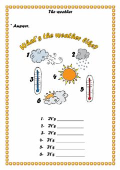 Interactive worksheet The weather