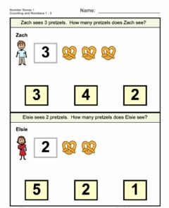 Interactive worksheet Count and match 1