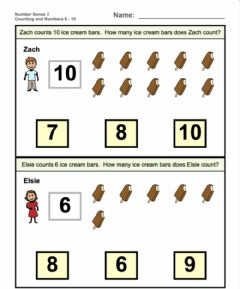 Interactive worksheet Counting and identifying numbers 2