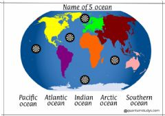 Ficha interactiva Name of  5 oceans