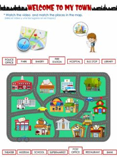 Interactive worksheet Welcome to my town