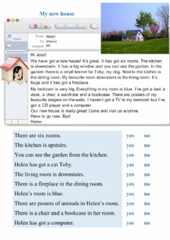 Interactive worksheet Reading - My new house