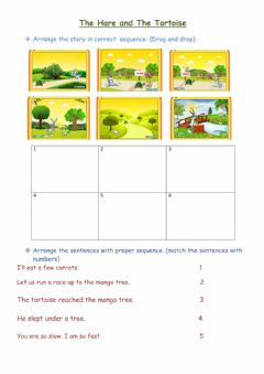 Interactive worksheet The hare and tortoise