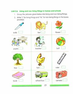Interactive worksheet Living and non - living thing
