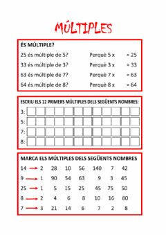 Interactive worksheet Exercicis de múltiples