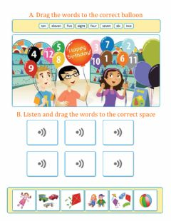 Ficha interactiva Practice: Numbers and Toys Vocabulary