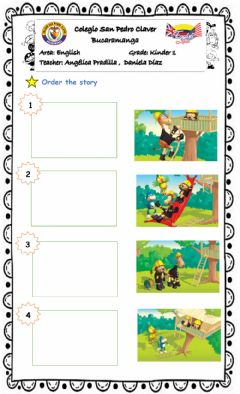 Interactive worksheet Order the story