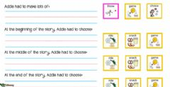 Interactive worksheet Addie's choices at the Amusement park 2