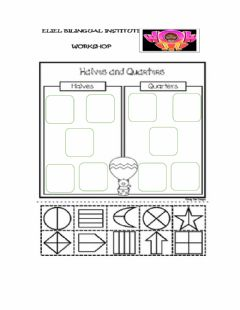Interactive worksheet Halves and quarters
