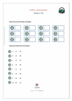 Interactive worksheet CLASS6-Exercise1