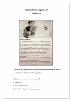 Interactive worksheet Reading and comprehension
