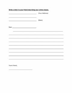 Interactive worksheet Letter writing