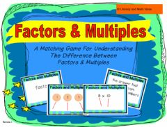 Interactive worksheet Multiple and factors