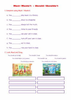 Interactive worksheet Must and SHould