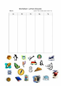 Ficha interactiva Letters review