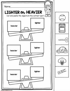 Interactive worksheet Heavier and Lighter