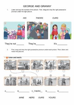 Interactive worksheet Possessive Pronouns (George and Granny)