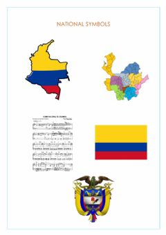 Interactive worksheet Colombian National Symbols