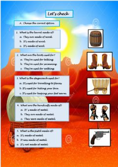 Interactive worksheet Wild West