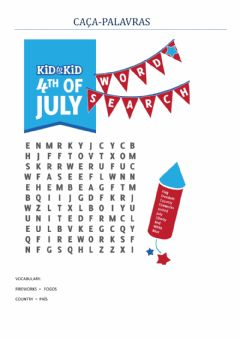 Interactive worksheet 4th july