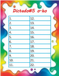 Interactive worksheet Dictado o-ho