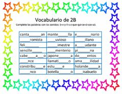 Interactive worksheet Vocabulario