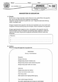 Interactive worksheet LKS 2 Geguritan